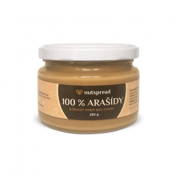 100% arašídové máslo Nutspread