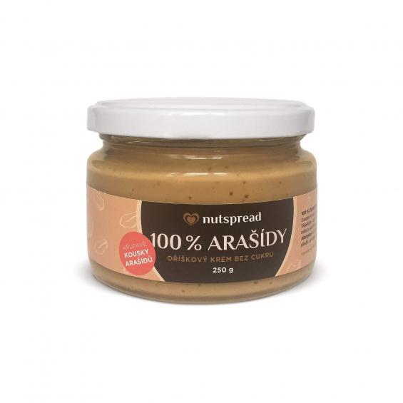 100% arašídové máslo Nutspread crunchy