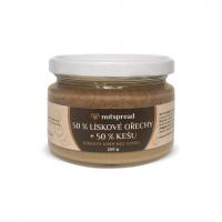 100% dvoubarevné oříškové máslo Nutspread: Lískový oříšek + kešu