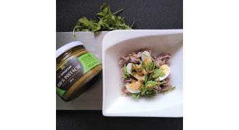 Pohankové těstoviny s pistáciovým máslem