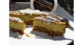 Fitness mrkvový dort - bez lepku a mléka