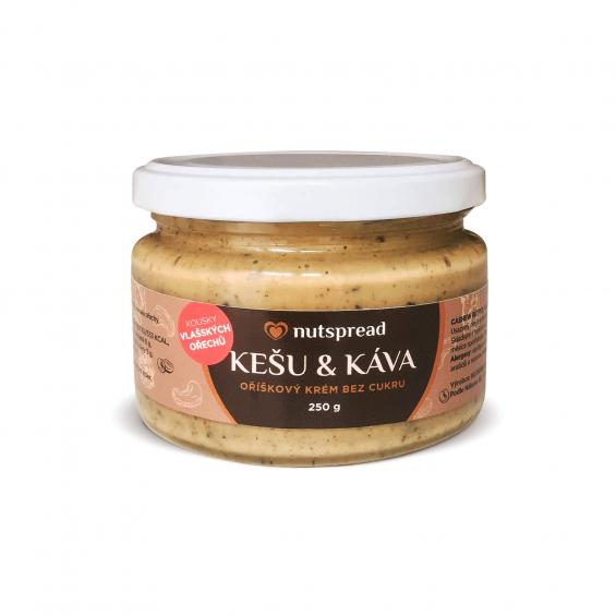 Nutspread Kešu máslo s kávou a vlašskými ořechy