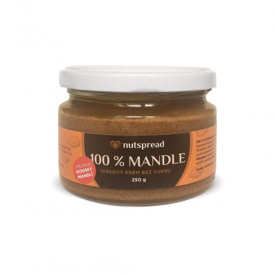 100% mandlové máslo Nutspread crunchy