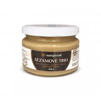 100% oříškové máslo Sezamové Trio: Sezam - kešu - vlašský ořech