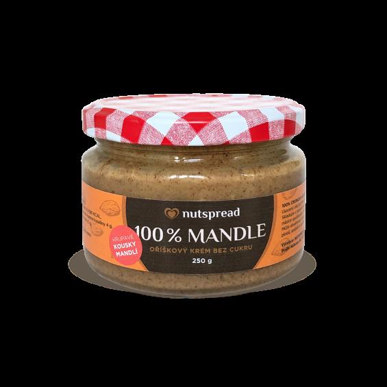 Nutspread mandlový krém křupavý - nejlevnější na trhu!