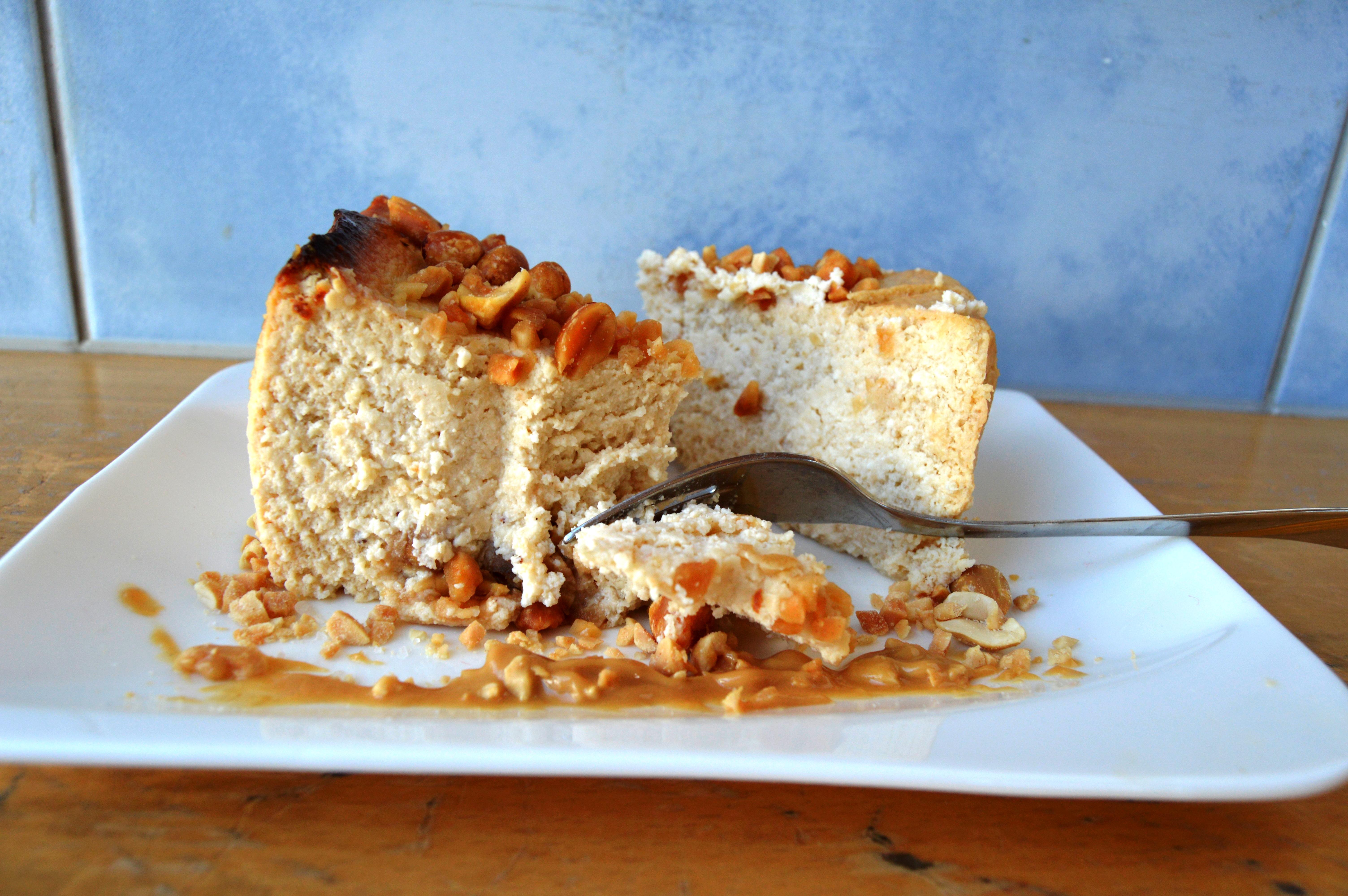 Arašídový cheesecake bez mouky