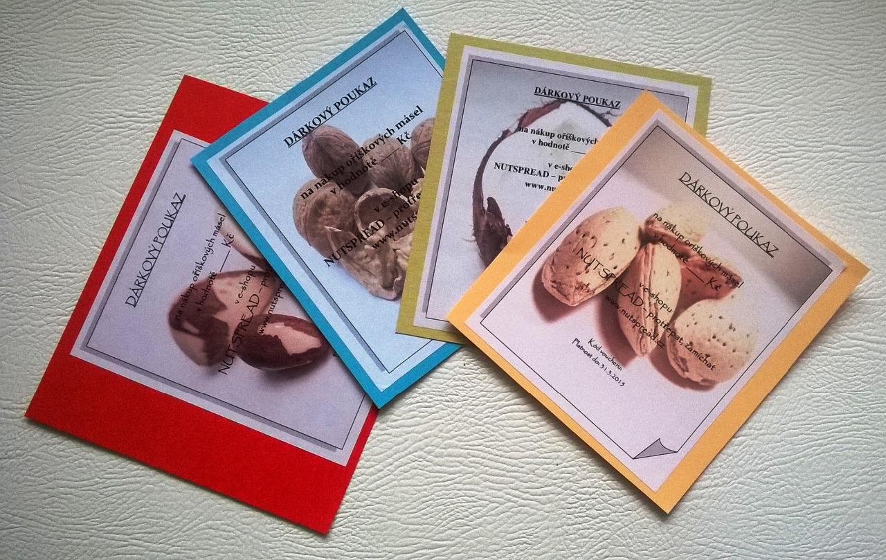 Dárkový voucher do e-shopu Nutspread v hodnotě 1000 Kč