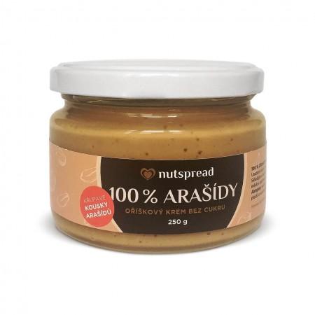 100% arašídové máslo Nutspread Crunchy 250 g